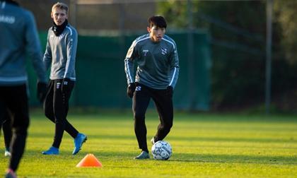 Vừa trở lại Hà Lan, Văn Hậu lao vào tập luyện cùng SC Heerenveen chuẩn bị tranh top 4