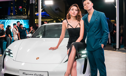 Thanh Hằng, Trọng Hiếu hội ngộ trong sự kiện đẳng cấp của Porsche tại Singapore