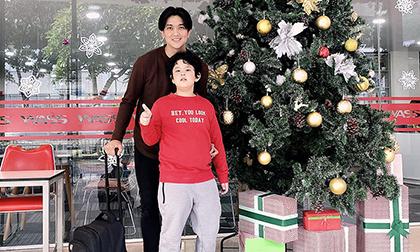 Bẵng đi một thời gian, con trai Trương Quỳnh Anh và Tim đã cao lớn phổng phao bằng bố
