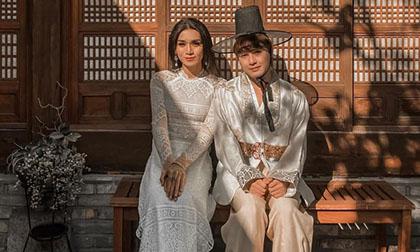 Diện áo dài nền nã, tự nhận đẹp như 'cô dâu Việt - chú rể Hàn' bên bạn trai, BB Trần đã muốn kết hôn?