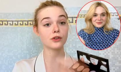 Hướng dẫn trang điểm, nhưng gương mặt 'cực phẩm' của Elle Fanning mới khiến fan sửng sốt