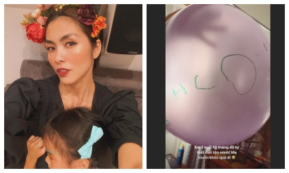 Hà Tăng 'muốn khóc' vì hành động này của con gái mới 2 tuổi 10 tháng