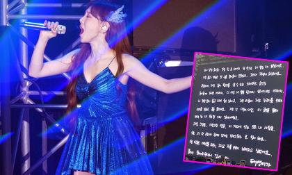 Bức tâm thư của Taeyeon tại concert: 'Mình mệt mỏi, mình kiệt sức và chỉ muốn khóc'