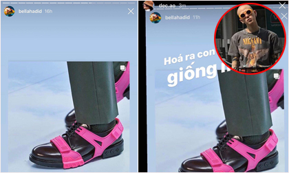Decao bất ngờ xuất hiện trên Instagram của Bella Hadid