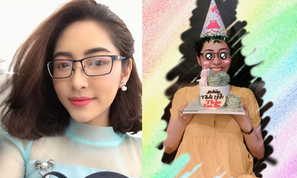 Hoa hậu đại dương Việt Nam Đặng Thu Thảo lộ bụng bầu lớn khi đón sinh nhật sớm