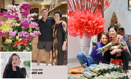 Sao Việt 22/1/2020: Bảo Thy bịn rịn khi về thăm và tặng quà Tết cho bố mẹ; Mỹ Tâm giản dị ngồi gói bánh