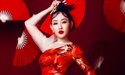 Hoa hậu Huỳnh Thúy Anh đẹp xuất thần trong bộ ảnh đón xuân Canh Tý
