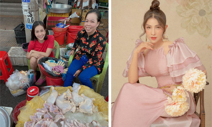 Về thăm gia đình ngày cuối năm, Khả Như vẫn tranh thủ phụ bạn học bán gà ở chợ
