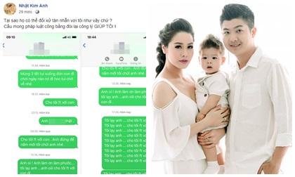 Vui chưa lâu, Nhật Kim Anh tung tin nhắn lạy lục chồng cũ cho gặp con trai nhưng nhận lại sự im lặng