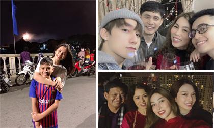 Dàn sao Việt hạnh phúc bên gia đình, ngắm pháo hoa vào đêm giao thừa 2020