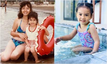 Ảnh ngày bé của Phạm Quỳnh Anh gây sốt khi nhìn giống hệt con gái thứ 2 Tuệ An
