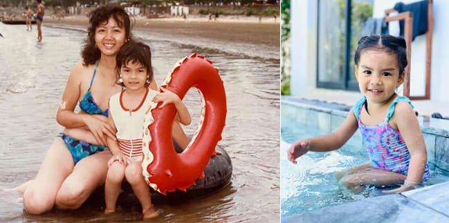 Phạm Quỳnh Anh đăng ảnh ngày bé giống hệt con gái thứ 2 hiện tại 1