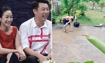 Vì mắc lỗi này với vợ, chồng Ốc Thanh Vân bất chấp dọn sân giữa trời mưa làm lành