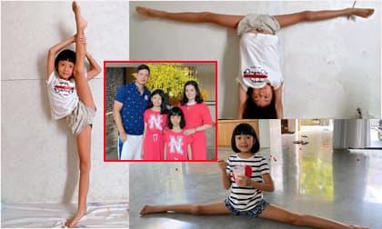 Con gái 8 tuổi của siêu mẫu Bình Minh thể hiện loạt động tác xoạc chân, uốn dẻo cực điêu luyện