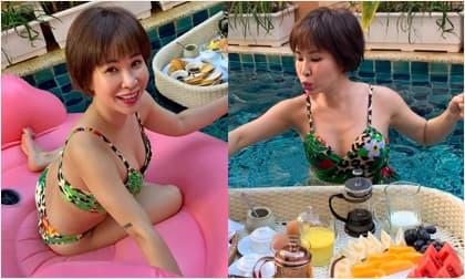 Lâu lắm rồi mới thấy ca sĩ Uyên Linh lại mặc đồ bơi nóng bỏng đến thế