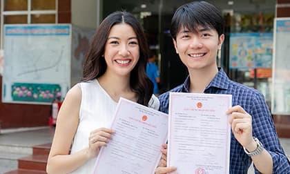 Thuý Vân hạnh phúc cùng bạn trai doanh nhân đi đăng kí kết hôn