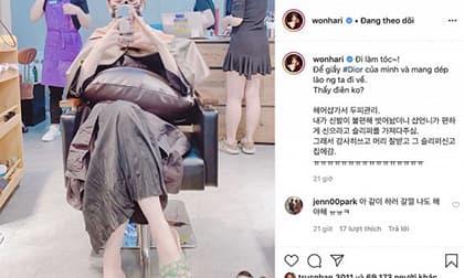 Hari Won tự nhận điên khi đi làm tóc mà quên luôn giày hiệu đắt tiền ở tiệm
