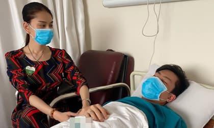 Lâm Khánh Chi lo lắng đến bỏ ăn cả buổi sáng khi chồng nằm viện