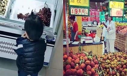 Cậu bé 4 tuổi vô tư bóc vải ăn trong siêu thị bị nhân viên mắng 'vô giáo dục', cách xử lý của bà mẹ khiến nhiều người phải học hỏi