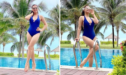 Lâu lâu diện bikini, Thúy Hạnh được siêu mẫu Hà Anh khen ngợi