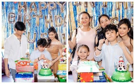 Cùng xuất hiện trong tiệc sinh nhật bé Sushi, mối quan hệ của Tim và mẹ Trương Quỳnh Anh thế nào?