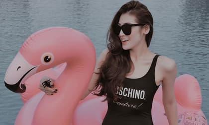 Lần đầu diện đồ bơi sau sinh, Á hậu Tú Anh nhận được loạt khen ngợi