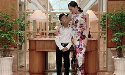 Mới 9 tuổi, con trai Lệ Quyên sở chiều cao bất ngờ so với mẹ, lại còn điển trai chuẩn soái ca