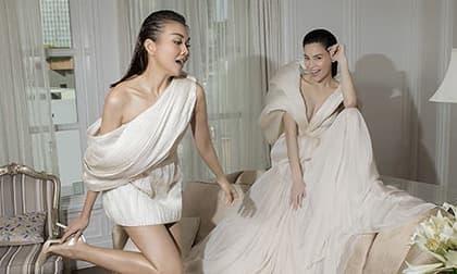 Bầu ba tháng, Hà Hồ vẫn đẳng cấp cùng Thanh Hằng trên Vogue Pháp