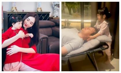 Con gái Đặng Thu Thảo đốn tim với khoảnh khắc mát-xa cho bố