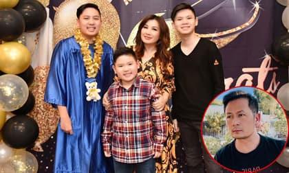 Vợ cũ Bằng Kiều tổ chức tiệc mừng con trai tốt nghiệp tại gia