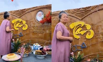 Cháu ngoại thầy Văn Như Cương chia sẻ khoảnh khắc xúc động của bà bên cạnh mộ ông nhân 83 năm ngày sinh cố PGS