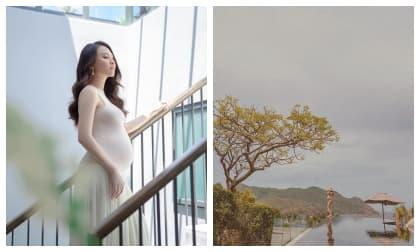 Đến lượt Đàm Thu Trang gia nhập hội mẹ bầu diện bikini nóng bỏng mắt