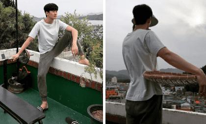 Kim Soo Hyun gây cười với loạt ảnh 'trai đẹp giả nghèo': Hết đi dép lê lại quay sang bưng mẹt