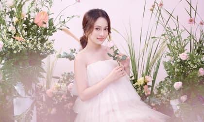 Bà xã Dương Khắc Linh được nhận xét ngày càng xinh đẹp, ngọt ngào dù mang song thai