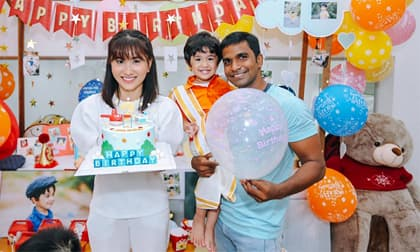 Nguyệt Ánh 'Cổng mặt trời' tổ chức sinh nhật 2 tuổi cho con trai tại nhà riêng