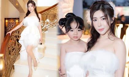 Hotgirl Trương Lệ Vân cùng con gái xinh tựa thiên thần trong thiết kế mới của Amber Design