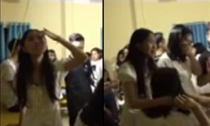 Màn 'rơi nước mắt' quá ấn tượng của nữ sinh trong buổi lễ chia tay khiến dân tình ngã ngửa