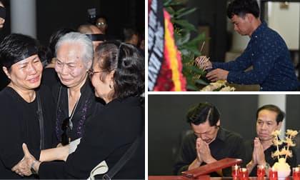 Nghệ sĩ Việt đến dự đám tang NSƯT Hoàng Yến và chia buồn cùng gia đình