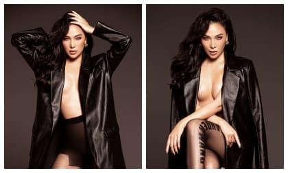 Quỳnh Thư 'thả rông' khoe ngực đầy gợi cảm trong bộ ảnh mới