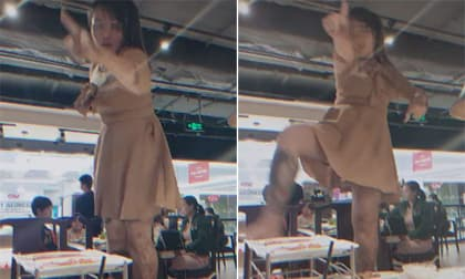 Mặc váy cực ngắn lại có hành động vô duyên, gái xinh bị nhiều người chỉ trích