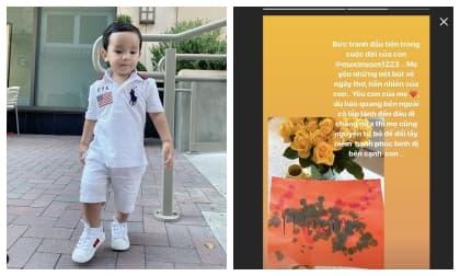 Không chỉ thừa hưởng nhan sắc của mẹ, con trai Phạm Hương còn bộc lộ năng khiếu nghệ thuật từ bé