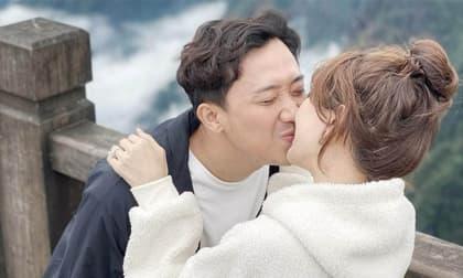 Đăng ảnh được Trấn Thành hôn cực ngọt, Hari Won thừa nhận chồng thương quá hơi mệt