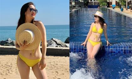 Lần đầu diện bikini, diễn viên 'Phía trước là bầu trời' Thu Nga được khen ngợi hết lời