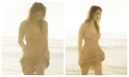 Tung ảnh gợi cảm trên biển, Ngọc Trinh gây sốc khi để lộ trọn vẹn bầu ngực trần
