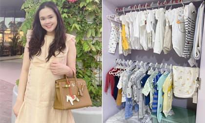 Bà xã cầu thủ Duy Mạnh đăng ảnh ở tháng cuối thai kỳ, khoe luôn tủ đồ sang xịn chuẩn bị cho quý tử sắp chào đời