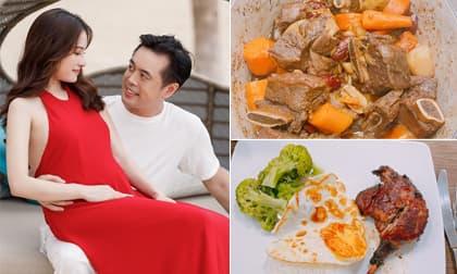Vợ trẻ bầu song thai, nhạc sĩ Dương Khắc Linh khoe thực đơn tẩm bổ cho bà xã khiến ai cũng ngưỡng mộ