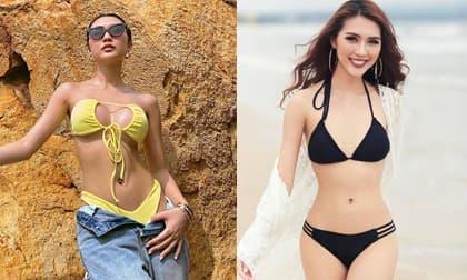 Hoa hậu Tường Linh khoe body nóng bỏng nhưng vòng một quá khủng khiến cô bị nghi 'dao kéo'