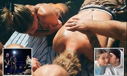 Justin Bieber và vợ thực hiện lễ rửa tội dưới nước cùng nhau