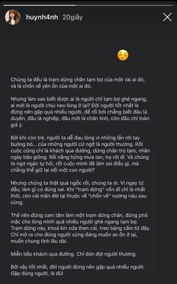 Huỳnh Anh nói về chuyện tạm bợ 2