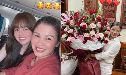 Món quà 'siêu to' Huỳnh Anh tặng sinh nhật mẹ Quang Hải, khéo thế này bảo sao lại được mẹ chồng tương lai cưng hết mực